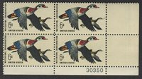 #1362- 6¢ Waterfowl Conservation Issue - MNH Plate Block of 4