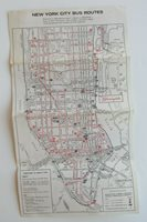 Rare Bloomingdales New York City Bus Route Map + 64 Worlds Fair 60's