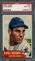 1953 Topps #104 Yogi Berra PSA 8 NM-MT New York Yankees HOF