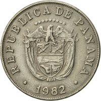 Panama, 5 Centesimos, 1982, EF(40-45), Copper-nickel, KM:23.2