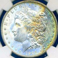 HGR 1904-O $1 Morgan ((Beautiful RAINBOW Toning)) NGC MS-63 (68043)