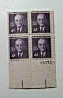 1960 John Foster Dulles 4 Cent U.S. Block of 4 Stamps