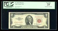 DBR 1953-A $2 Legal Fr. 1510 PCGS 25 Serial A46390942A
