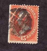 #163 15c US POSTAGE USED AVE CAT=$160.00 #163PT10 DSS