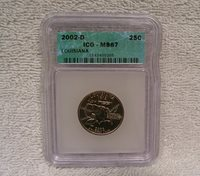 2002 D Louisiana State Quarter ICG MS67 - Uncirculated Coin
