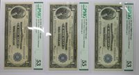 1918 $1 NATIONAL CURRENCY LARGE SIZE BLUE SEAL NOTE SEQUENTIAL CONSECUTIVE NU...