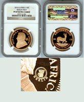 "2010 GOLD SOUTH AFRICA KRUGERRAND BERLIN NGC PROOF 69 ULTRA CAMEO ""BERLIN WORLD MONEY FAIR (BERLIN PRIVY MARK)"" ONLY 600 MINTED"