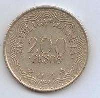 COLOMBIA - 200 Pesos 2014 Nickel brass • 4.61 g • ⌀ 22.4 mm