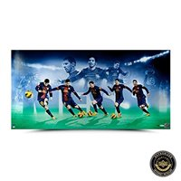 "Lionel Messi Autographed/Signed Limited Edition Image Collage - ""Arrival"" - UDA"