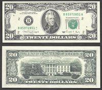 $20 1990 FRN STUCK DIGIT ERROR TURNED SUFFIX RETAIL $350 Gem New