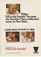 Carroll O'Connor All In The Family 1980 Ad- success in New York/WNEW-TV