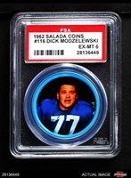 1962 Salada Coins #116 Dick Modzelewski PSA 6 - EX/MT
