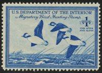 Scott RW15, F-VF NH, 1948 $1 bright blue