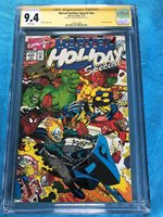 Marvel Holiday Special 1993 - Marvel - CGC SS 9.4 NM - Signed by Art Adams