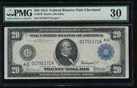 AC Fr 976 1914 $20 Cleveland FRN PMG 30 Burke/McAdoo