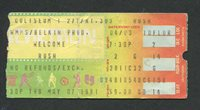 1981 Rush FM Concert Ticket Stub Richfield OH Moving Pictures Tom Sawyer
