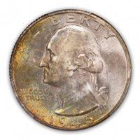 1945-D 25C Washington Quarter PCGS MS67+