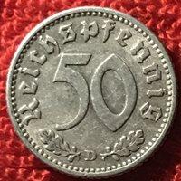 Germany KM 96 - 50 Reichspfennig 1940 D - VF [1/869-70]