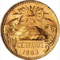 1963 Mexico 20 Centavos, PCGS MS 66 Red, Superb Example