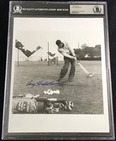 DR. CARY MIDDLECOFF 1955 MASTERS CHAMPION VINTAGE SIGNED PHOTO BECKETT BAS 8X10