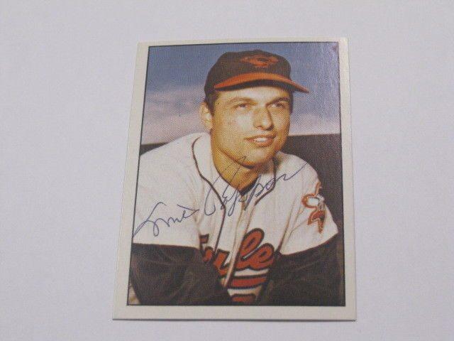 Milt Pappas Autographed Baseball Card Psa Pre Certified