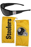 Pittsburgh Steelers NFL Chrome Wrap Sunglasses w/ Microfiber Bag