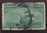 U.S. Stamps Scott #232 Used,F-VF (P6517N)