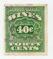 USA 1934 Wines Revenues Issue Fine Used 40c. 312983
