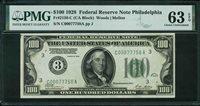 Fr No.2150-C $100 FRN 1928 PMG 63EPQ