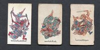 1917 Thailand Tobacco Cigarette 3 Different Cards Siam Khun Chang Phaen Eagle b