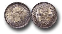 EM142 - Great Britain, Victoria (1837-1901), Silver Maundy Twopence, 1883