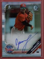 Luis Garcia 2019 Bowman Chrome Prospects Certified Auto Refractor #CPA-LG #/499