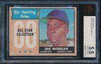 1968 Topps All-Star #364 Joe Morgan BVG 5.5 EX+ bgs
