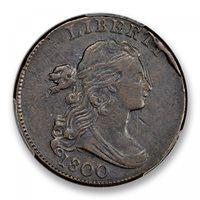 1800 1C Sheldon 208 Draped Bust Cent PCGS MS97BN