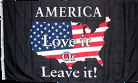 AMERICA LOVE IT OR LEAVE it! Flag Black USA Map AMERICAN USA MAP MAGA Trump Flag
