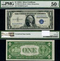 FR. 1608 $1 1935-A Silver Certificate Non-Mule N-A Block PMG AU50 EPQ PQ