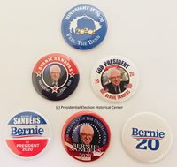 Bernie Sanders For President 2020 Campaign Buttons (Set of 6)