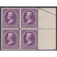 (253), Block of 4, F-VF, og, NH - 404612