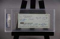 Enos Slaughter Signed Check
