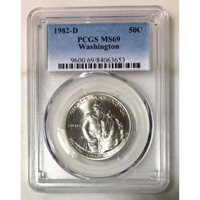 1982 D Washington Commemorative PCGS MS69 *Rev Tye's* #365360
