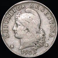 1923 | Argentina 20 Centavos | Cupro-Nickel | Coins | KM Coins