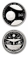 Marshall Islands First Rendezvous in Space 1965 $50 1989 Proof Silver Crown