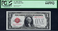 $1 1928 F1500 Woods - Woodin. PCGS Very Choice New 64 PPQ. Serial A01775139A.