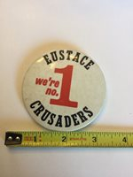 Vintage Bishop Eustace Crusaders Football Pin Cherry Hill Nj Camden Catholic