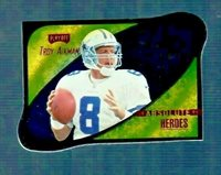 1999 Absolute Heroes TROY AIKMAN GOLD DIE CUT INSERT FOOTBALL CARD Cowboys HOF