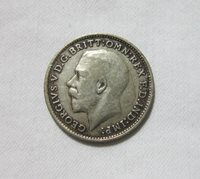 GREAT BRITAIN, SILVER 3 PENCE, 1920. KING GEORGE V.