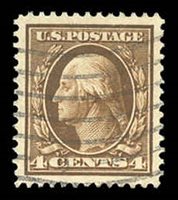 377 Wavy lines cancel. 2007 PSE certificate graded 100J. An outstanding beauty that has fresh color and large, well balanced margins. This is the only stamp to receive this grade and it is the highest grade yet awarded to a use stamp $1,150.00