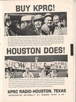 KPRC Radio 1965 Ad- Tim 'n Bob with The Hibernians of Houston/Show Biz Army