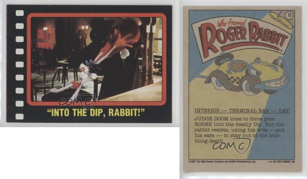 1987 Topps Who framed Roger Rabbit #70 Into the Dip Rab