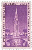 U.S. #852 Golden Gate Exposition MNH